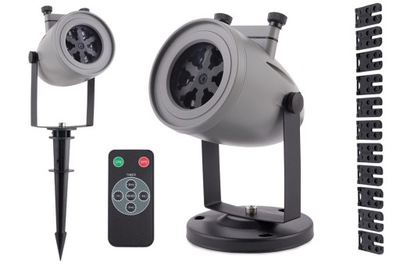 Laserový projektor  - STAR SHOWER PROJEKTOR LED LASER 12 DESKY PILOT