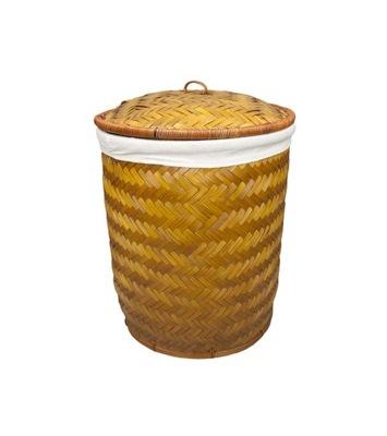 Корзина круглый бамбуковая емкость для белья H47cm