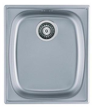 Umývadlo oceľové jednej komory ZÁKLADNÉ 1komorowy 10 sifón