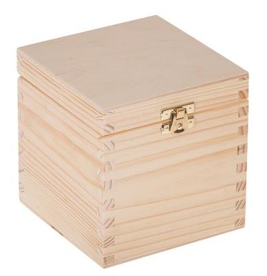 Organizér, kufrík, skrinka - PUDEŁKO 13x13x13,5cm szkatułka DECOUPAGE zatrzask