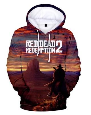 Bluza z Kapturem nadruk 3D RED DEAD REDEMPTION 2