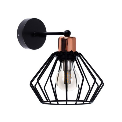 Svietidlá - Závesné svietidlá - Lampa kinkiet LED Styl RETRO1 czarny/miedź