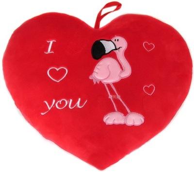 Srdce vankúš Milujem ťa horiace 80 cm Valentína
