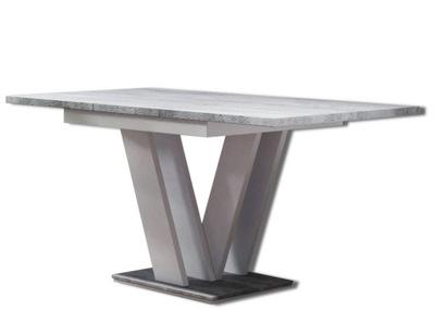 современный стол раскладной бетон +Белый 120-160/80