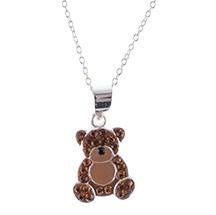 Medveď prívesok s reťazca , striebro 925