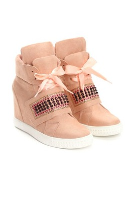 fc5280091b702d Różowe sneakersy VICES cyrkonie koturn 37 - 7550022363 - oficjalne ...