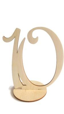 Numery cyfry na podstawce SZLIFOWANE stół weselny