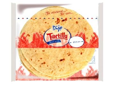 Тортилья Dijio 25 см. 18 штук в упаковке.