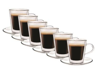 Pohár tepelnej kávovar espresso Doppio 6 Ks