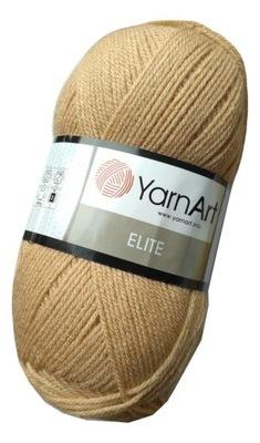 100g włóczka 100% akryl YarnArt Elite beżowy 805