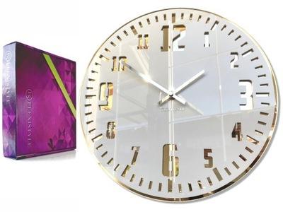 Veľké moderné nástenné hodiny JEDINEČNÝ lesk zlata