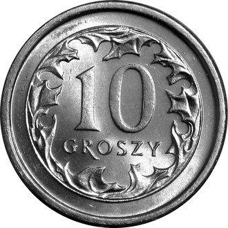 10 gr groszy 1993 mennicza z worka lub rolki