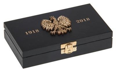 Organizér, kufrík, skrinka - PUDEŁKO czarne ORZEŁ godło NIEPODLEGŁOŚĆ ORDER eko