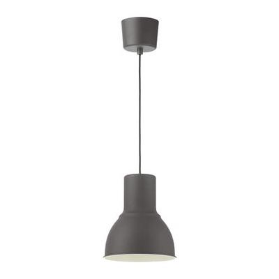 Svietidlá závesné - IKEA lampa wisząca HEKTAR 22cm szary kurier