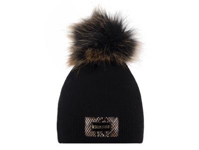 Zimowa klasyczna czapka dwuwarstwowa Jenot CZARNY