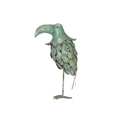 Dekorácia do záhrady - BIRD TUKAN METAL FIGURE Názov: DEKOR OGRÓD TARAS DOM