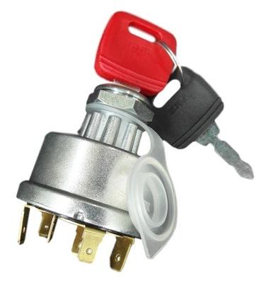 Замок зажигания выключатель зажигания 12/24V JCB и другие; 6 pin
