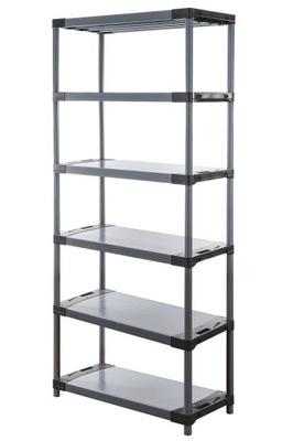 Regál - polica -  Skladovací stojan ako kovový Titanium-6 222x150x46