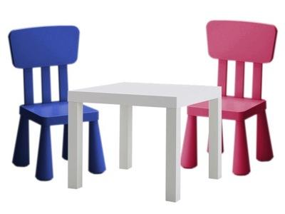 7c1eb7635f4b 2 mammut zestaw IKEA 2x krzesełko stolik KOLORY