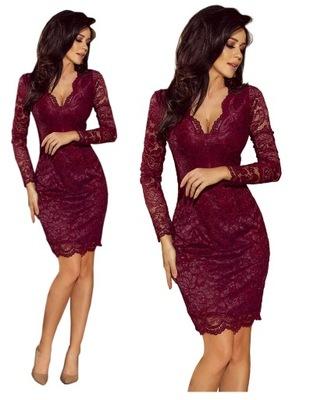 Sukienka Glamour Bordo 36 S Selfish 7477268985 Oficjalne