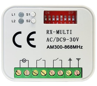 PRIJÍMAČ OVLÁDAČOV UNIVERZÁLNY 300-868 MHz RX 2K