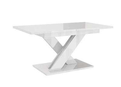 современный стол раскладной Белый блеск 140-180/90