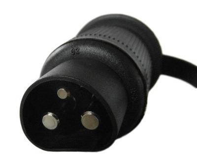 вилка 3 контактный разъем контактный компьютер, свет подкл.
