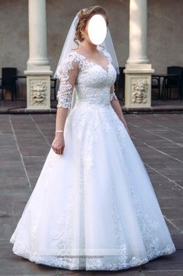 7e0b87e6a8 Sprzedam koronkową suknię ślubną rozm. 38