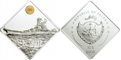 2008 ПАЛАУ 10 $ серебро Ямато - морской бой