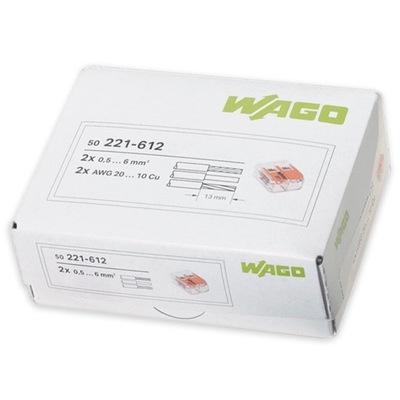 Rýchle konektor WAGO UNIVERZÁLNY 2x0,5-6 mm2 50pcs