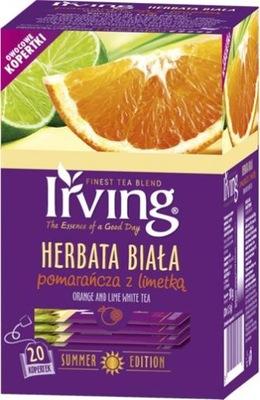 чай белая IRVING Апельсин с Limetką 20 штук