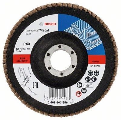 Pätka disk kužeľ. BOSCH 125 mm, P40 10 Ks