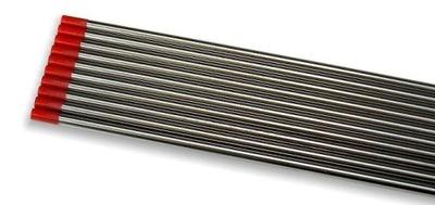 volfrámové ELEKTRÓDY WT20 ČERVENÝ drôt TIG 2,0 x175mm