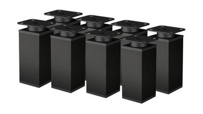 8 X NOŻKA FOOTER Мебель регулируемая 100 ММ черная