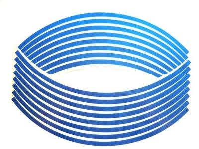 Nálepky prekladané upozorňuje na ráfik kolesa a rýchlovarnú blue