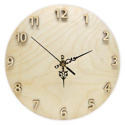 часы из фанеры 25см+ Механизм цифры декупаж