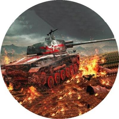 id_7358 OPŁATEK TORTOWY CZOŁG TANK ŻOŁNIERZ TORT