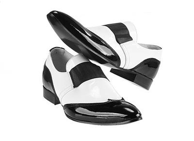 061930a977851 Czarno - białe lakierki męskie Półbuty Faber r 39 - 6920873819 ...