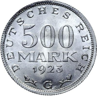 Германия - 500 Марок 1923 ? - MENNICZA С ролики