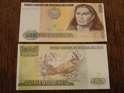 306.PERU 500 INTIS UNC