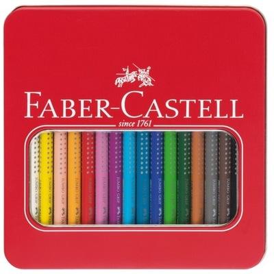 Hrubé farebné ceruzky FABER-CASTELL Jumbo Grip 16 farebných KOVOV