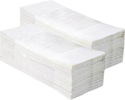 Osuška, uterák - RĘCZNIK ZZ SKŁADANY BIAŁY 4000 SZT KARTON PODAJNIK