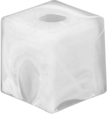 Абажур стеклянный E14 кубик 8x8cm белая для люстры