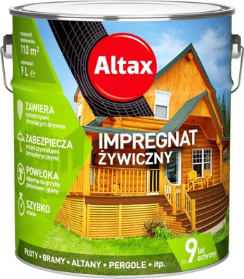 ALTAX POLYMÉR IMPREGNÁCIA DREVA 9L - 10 farieb
