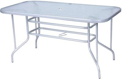 Sklenený stôl záhrada 140x80x72 cm MILANO