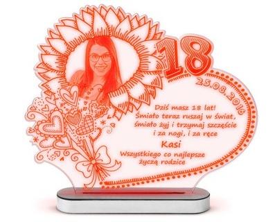 Darček pre 18, narodeniny, dátum narodenia Figúrka Lampa