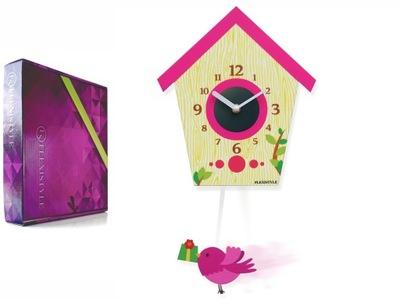 Detské hodiny, budík - Detské hodiny BIRD pre deti tiché s kyvadlom