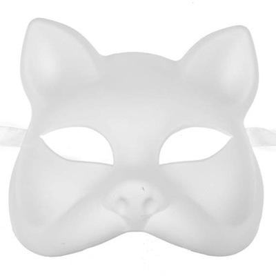 Plastikowa Biała Maska Kota KOT do malowania DIY
