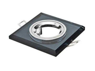 halogénové bodové svetlo LED GU10 MR16 čierne sklo