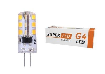 Лампа LED G4 12 в ПОСТОЯННОГО тока  2W 180lm silicon белая